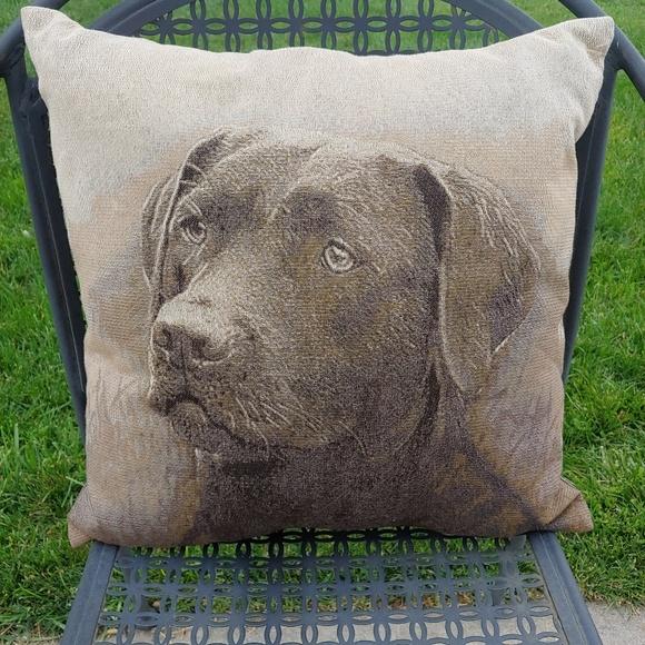 Home Decor Other - Labrador Retriever Throw Pillow Black Lab